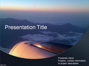 Aircraft field outside the large field of view ppt template