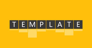 Atmosphere simple yellowish flattened business ppt template