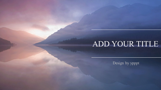 Beautiful lake scenery PPT Templates
