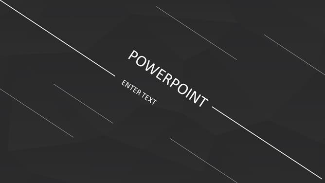 Black Background Minimalist Lines Ppt Templates