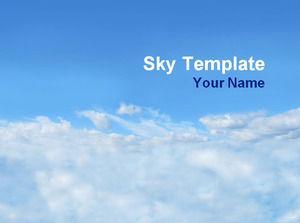 Biru Langit Dan Awan Putih Ppt Template