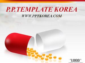 Free medicine health powerpoint templates capsule drugs deep gray red work report ppt template toneelgroepblik Gallery
