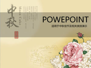 Mid autumn festival ppt chinese flower peony mid autumn festival ppt template toneelgroepblik Image collections