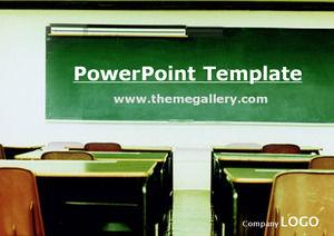 Classroom blackboard graduates reminiscent campus life ppt template