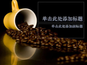 Coffee beans ppt template
