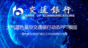 Digital sky synthesis background traffic bank work summary report ppt template