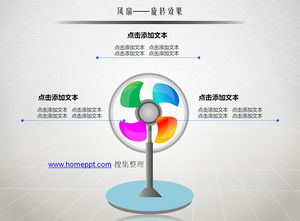 Fan rotation effect ppt template