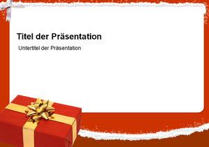 Festive spree gift beautiful snowflake text box ppt template