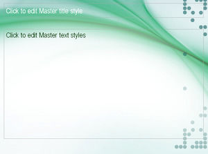 Fresh and elegant green PPT background template download