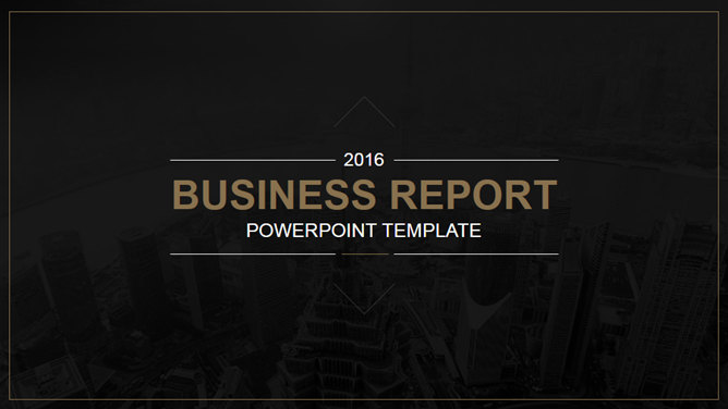 High-end atmosphere Cool Black Business PPT template