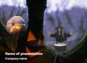 Horror Halloween ppt template