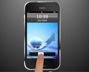 iphone phone unlock effects animation ppt template