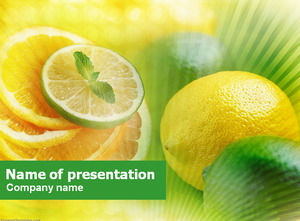 Lemon slices mint dining ppt template