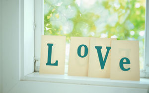 LOVE text wood romantic background picture
