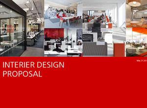 Office interior design company ppt template