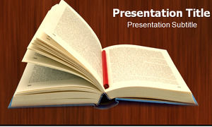 Open a book of information ppt template
