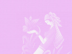 Paper-cut beauty pink background picture