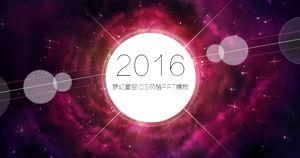 Purple Dream Star IOS minimalist style ppt template