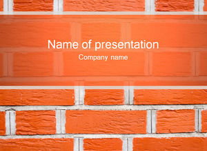 Red brick wall background ppt template