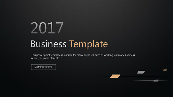 Simple black and elegant atmosphere PPT Templates